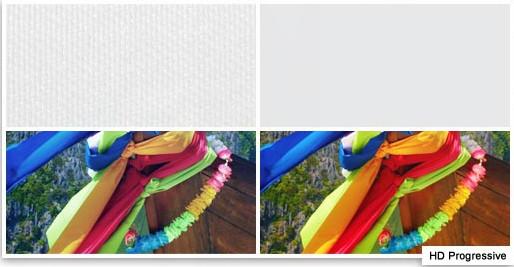 HD Progressive Farbvergleich