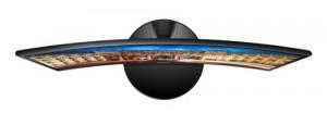 Samsung C27F390 Curved Monitor von oben
