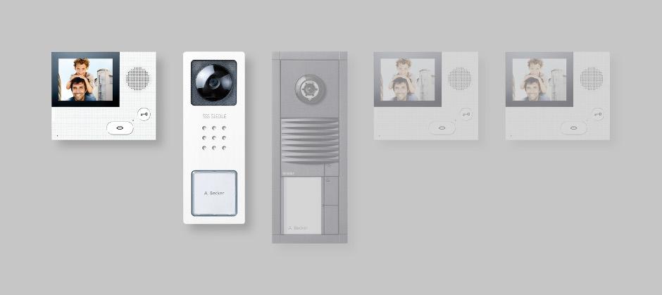 erweiterbare t rkommunikations sets von siedle av residential. Black Bedroom Furniture Sets. Home Design Ideas