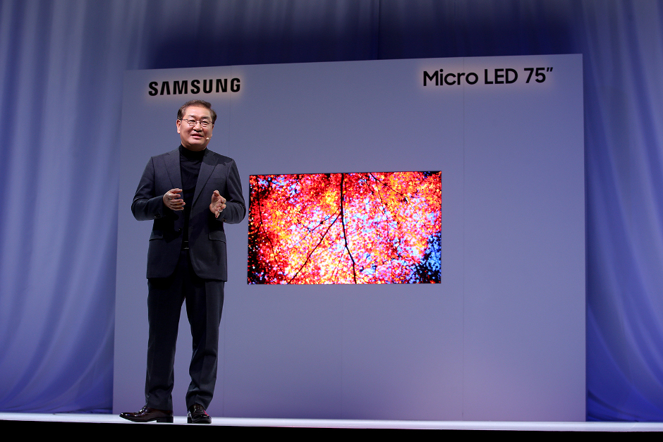 "Micro LED 75"" Display von Samsung"